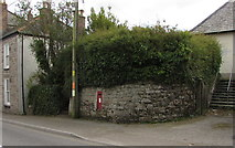 SW7834 : Red postbox in a Helston Road wall, Penryn by Jaggery