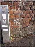 SP0686 : OS benchmark - Lee Bank, Bath Row canal bridge by Richard Law