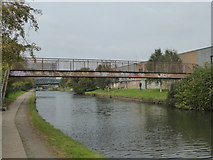 TQ2182 : Footbridge over the Paddington Branch of the Grand Union Canal near Old Oak Common by Rod Allday