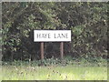 TM0120 : Haye Lane sign by Adrian Cable