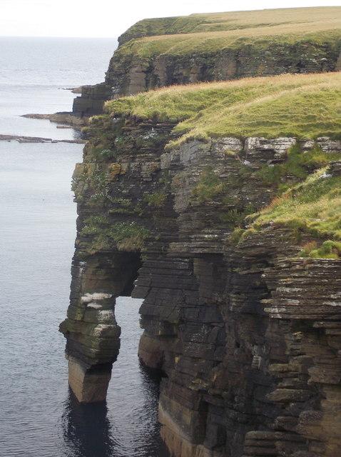 Stronsay: natural arch near Burgh Head