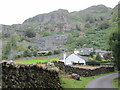 NY3205 : Chapel Stile – lane view towards a hillside by Peter S