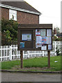 TM0219 : Fingringhoe Village Notice Board by Adrian Cable