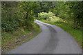 NM9834 : Bend on the Loch Etive road by Nigel Brown