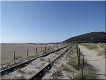 SH6214 : Railway line from Morfa Mawddach station towards Barmouth bridge by I Love Colour