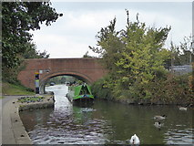 TQ1783 : Barge passing under Manor Farm Road bridge on the Paddington Branch of the Grand Union Canal by Rod Allday