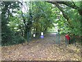 SJ8246 : Silverdale: entrance to allotments off Park Road by Jonathan Hutchins