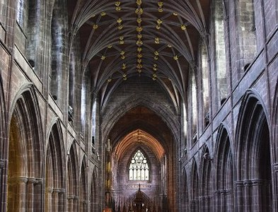 SJ4066 : The nave of Chester Cathedral by Patrick Mackie