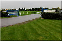 SU9477 : Entrance to Royal Windsor Racecourse by Jaggery