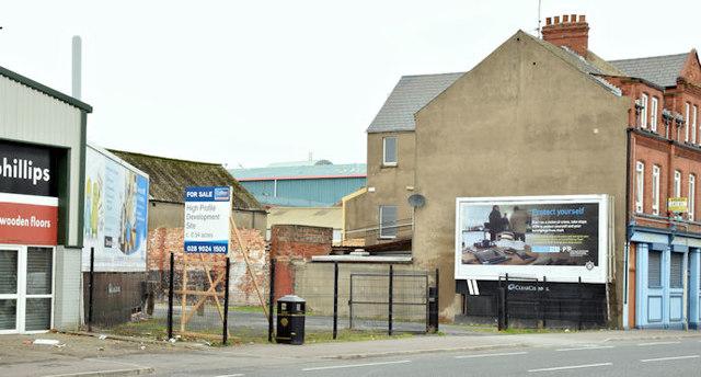 Development site, Ravenhill Road, Belfast (October 2015)