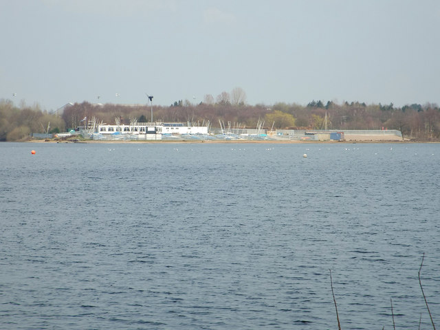 The Chase Sailing Club seen across Chasewater, near Brownhills