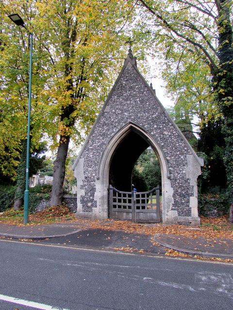 Eton Cemetery lychgate