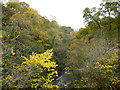 NS8108 : Mennock Water at Routin Linn by Alan O'Dowd