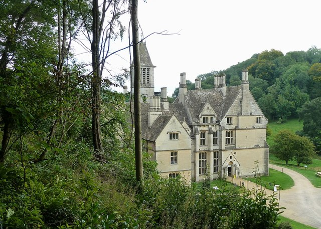 Woodchester Mansion from the higher track