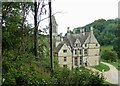 SO8001 : Woodchester Mansion from the higher track by Rob Farrow