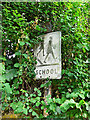 NY4754 : Pre-Worboys school sign, Great Corby by Rose and Trev Clough