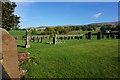 NY6432 : The Graveyard at St Lawrence's Church, Kirkland by Ian S