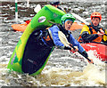 J3269 : Kayaking, Shaw's Bridge, Belfast - October 2015(2) by Albert Bridge