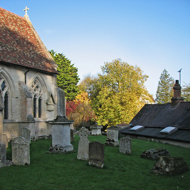 In Grantchester churchyard in October