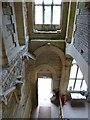 SO8001 : Woodchester Mansion - Looking down at the entrance by Rob Farrow
