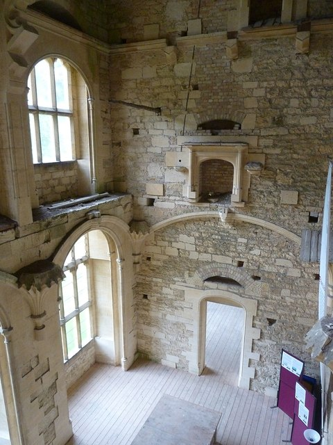 Woodchester Mansion - Looking down into the Hall
