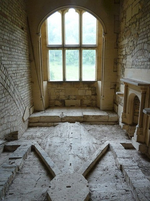 Woodchester Mansion - Exposed top of groin vault