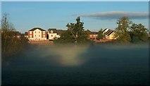 ST0207 : Mist in the Spratford Stream valley by Derek Harper
