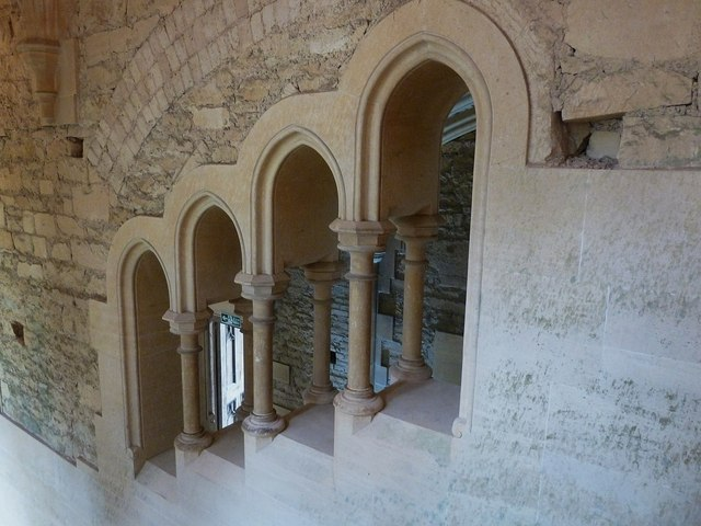 Woodchester Mansion - Grand Stair - Open arcade