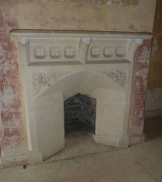 Woodchester Mansion - Bathroom - Fireplace