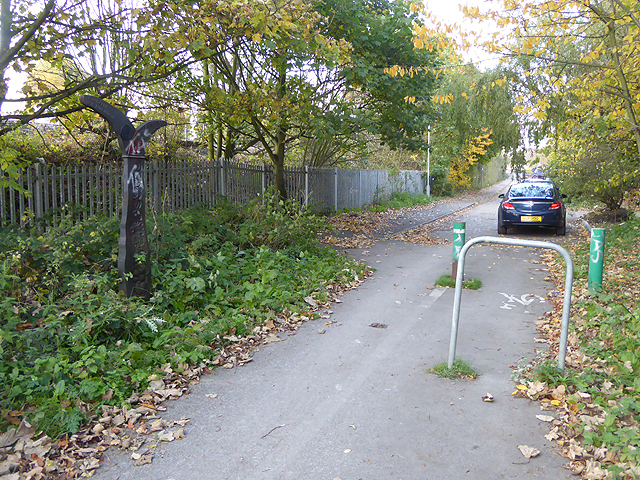 National Cycle Network route 1, Palace Road, Bedlington