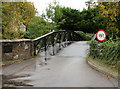 SU9577 : Weight limit on the bridge to White Lilies Island,  Clewer Village, Windsor by Jaggery