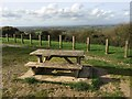 ST7372 : Picnic table and view from Tog Hill by don cload