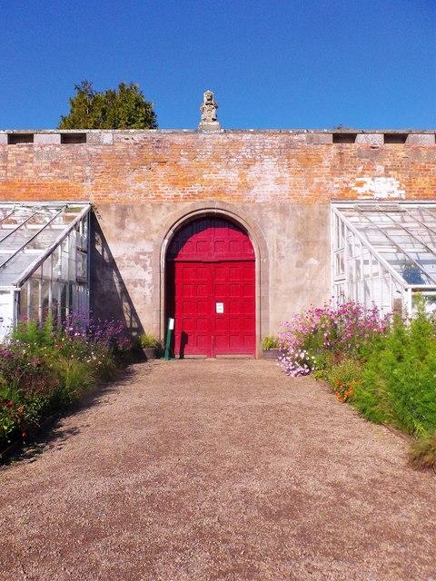 North wall gate, Glamis walled garden