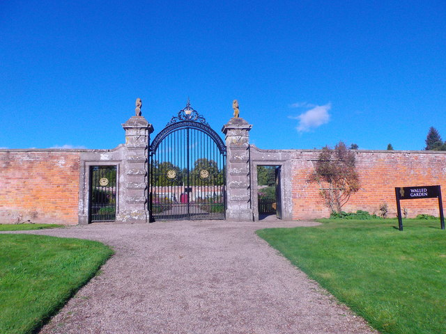 Grand entrance to Glamis Walled Garden