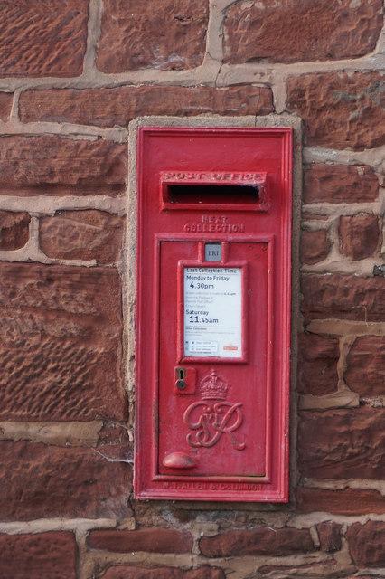 George VI postbox at Gullom Holme