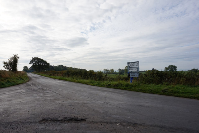 Road junction south of Milburn