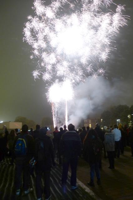 Fireworks over Vanbrugh