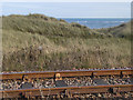 NZ3183 : Railway and dunes at North Blyth by Oliver Dixon