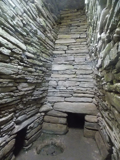Sanday: inside Quoyness chambered cairn