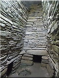HY6737 : Sanday: inside Quoyness chambered cairn by Chris Downer