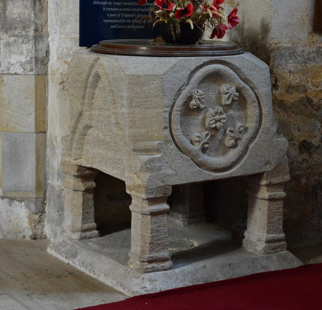 Wakerley: St. John the Baptist church: The unusual c13th font