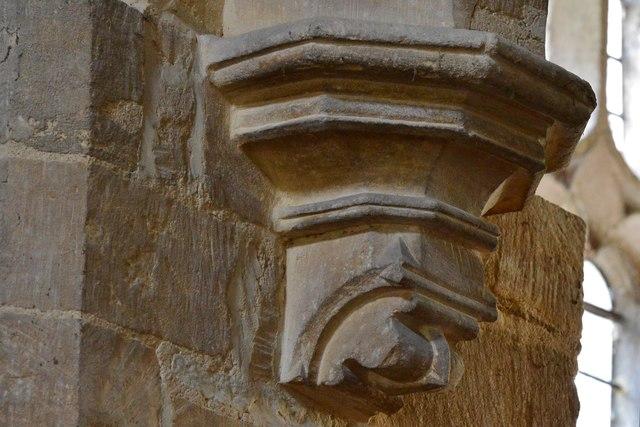 Wakerley: St. John the Baptist church: South chapel arch corbel