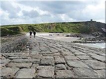 SS2006 : Efford Down from the breakwater, Bude, Cornwall by Derek Voller