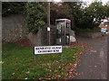 SJ2207 : Oldford Rise grey phonebox, Welshpool by Jaggery