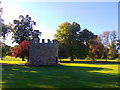 NO3847 : East Tower, Glamis Castle grounds by Stanley Howe
