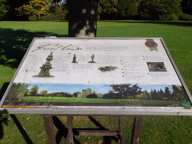 Information board, Front Lawn of Glamis Castle