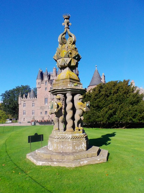 The Great Sundial, Front Lawn of Glamis Castle
