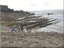 SS2006 : A photo-shoot on the rocks at Bude Haven's breakwater by Derek Voller