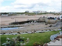 SS2006 : Confluence of the River Neet and the Bude Canal, Bude Cornwall by Derek Voller