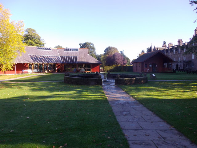 Farm Shop, Fountain and Pavilion